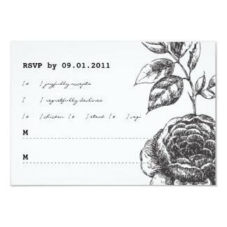 "Rose Garden Wedding Invitation RSVP 3.5"" X 5"" Invitation Card"