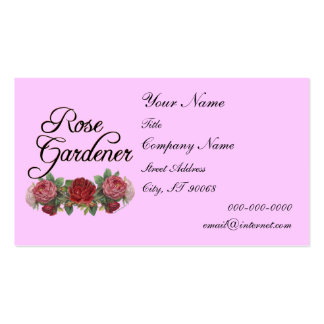 Rose Gardener Custom Business Card Pink