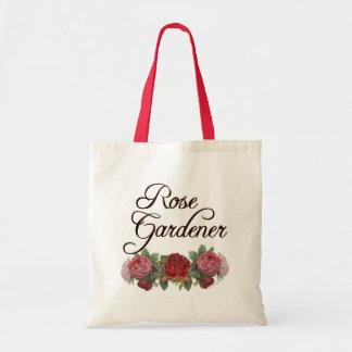 Rose Gardener Saying with Roses Tote Bag