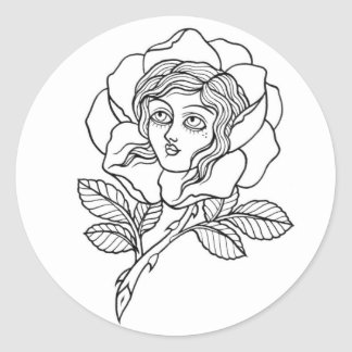 Rose girl sticker