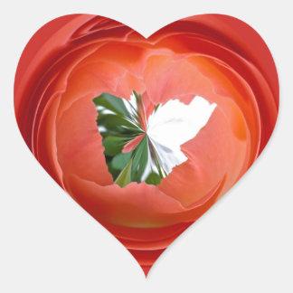 Rose Globe Heart Sticker