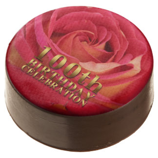 Rose Gold 100th Birthday Celebration Chocolate Covered Oreo
