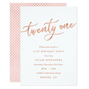Girls 21st Birthday Invitations Zazzle