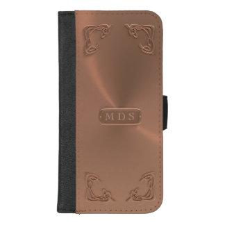 Rose Gold 3D Art Nouveau Fancy Corners iPhone iPhone 8/7 Plus Wallet Case