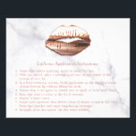"""Rose Gold 3D Lips Marble Makeup Instruction Tips Flyer<br><div class=""""desc"""">================= ABOUT THIS DESIGN ================= Rose Gold 3D Lips Marble Makeup Beauty Salon Instruction Tips Flyer. (1) For further customization, please click the &quot;Customize it&quot; button and use our design tool to modify this template. All text style, colors, sizes can be modified to fit your needs. (2) If you need...</div>"""