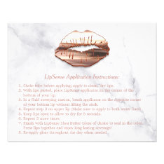 Rose Gold 3d Lips Marble Makeup Instruction Tips Flyer at Zazzle