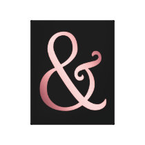 Rose Gold Ampersand Canvas Print