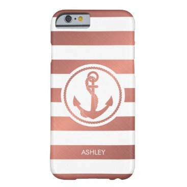 Rose Gold Anchor Barely There iPhone 6 Case
