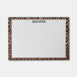 Rose Gold and Black Diamonds Personalized Post-Its Post-it Notes