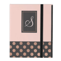 Rose Gold and Gray Monogrammed iPad 2/3/4 Case