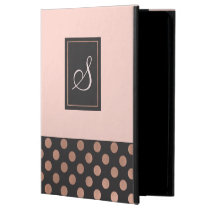 Rose Gold and Gray Monogrammed iPad Air 2 Case