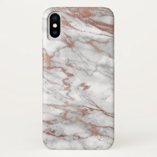 Rose Gold and Marble iPhone Case
