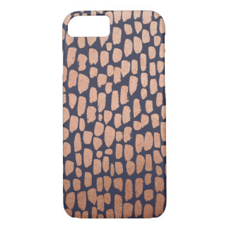 Rose Gold and Navy Spots iPhone 7 Case