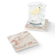 rose gold and white marble stone coaster