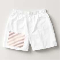 rose gold and white stripes, modern pattern,trendy boxers