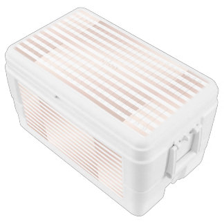 rose gold and white stripes, modern pattern,trendy chest cooler