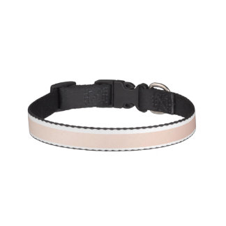 rose gold and white stripes, modern pattern,trendy pet collar