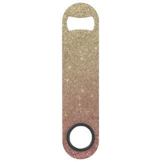 Rose Gold and Yellow Gold Glitter Mesh Bar Key