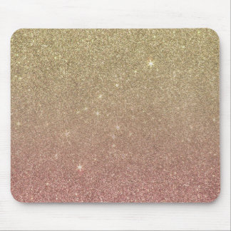 Rose Gold and Yellow Gold Glitter Mesh Mouse Pad