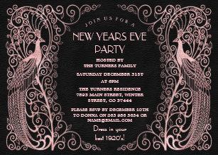 rose gold new year invitations zazzle