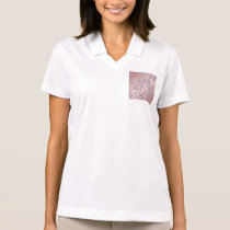 rose gold, asian,leaf,pattern,bamboo trees, beauty polo shirt