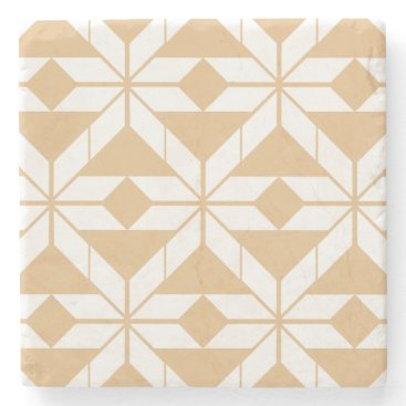Aztec Themed Rose Gold Aztec Design Marble Stone Coaster