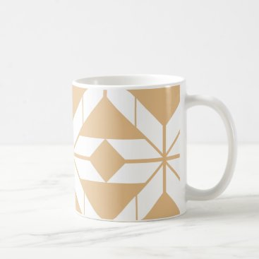 Aztec Themed Rose Gold Aztec Geometric Design Mug