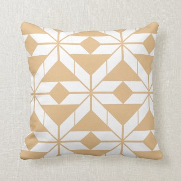 Aztec Themed Rose Gold Aztec Geometric Design Throw Cushion