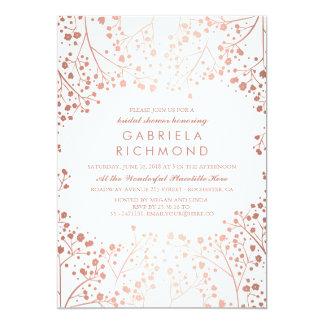Rose Gold Baby's Breath Floral Bridal Shower Card
