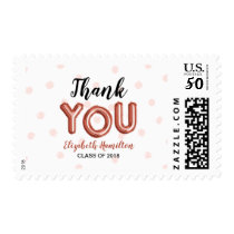 Rose Gold Balloon Letters Thank You Graduation Postage