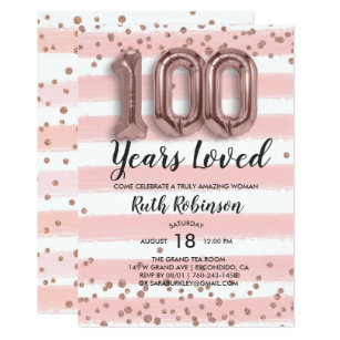 60 Off 100th Birthday Invitations Shop Now To Save