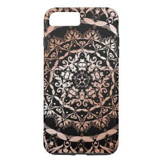 Rose Gold Black Floral Mandala iPhone 8 Plus/7 Plus Case