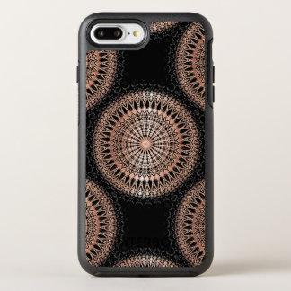 Rose Gold Black Mandala Pattern OtterBox Symmetry iPhone 7 Plus Case