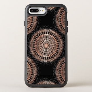 Rose Gold Black Mandala Pattern OtterBox Symmetry iPhone 8 Plus/7 Plus Case