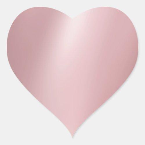 Rose Gold Blank Elegant Modern Template Trendy Heart Sticker