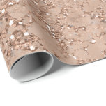 "Rose Gold Blush Pink Glam Sparkle Crackle Chic Wrapping Paper<br><div class=""desc"">custom wrapping paper</div>"