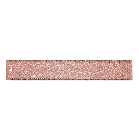 Rose Gold -Blush Pink Glitter and Sparkle Ruler