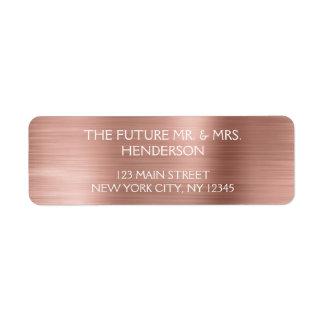 Rose Gold - Blush Pink Modern Wedding Label