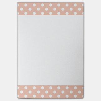 Rose gold/blush pink polka dots Post-It note pad