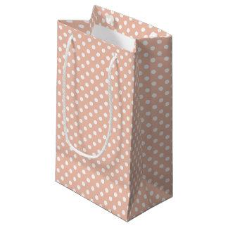 Rose gold/blush pink & white polka dots gift bag