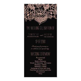 Rose gold boho floral mandala Wedding Programs