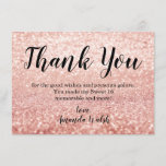"""Rose Gold Bokeh Lights Sweet 16 Thank You Note<br><div class=""""desc"""">Rose Gold Bokeh Lights Sweet 16 Thank You Note</div>"""