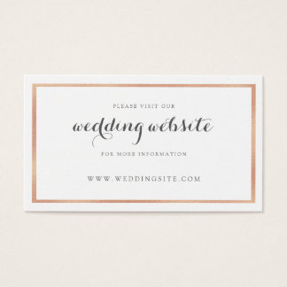 Rose Gold Border Modern Wedding Website Card