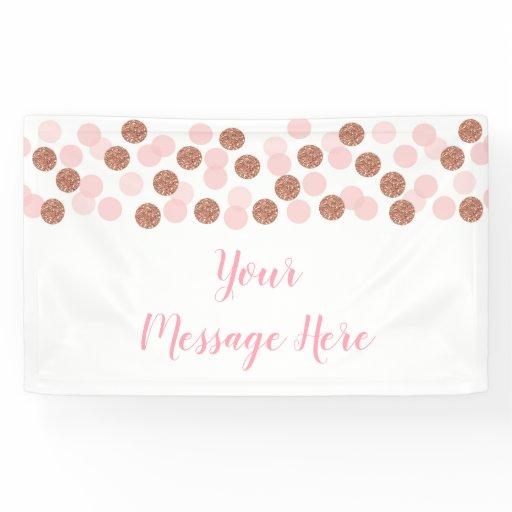 Rose Gold Bridal Shower Banner