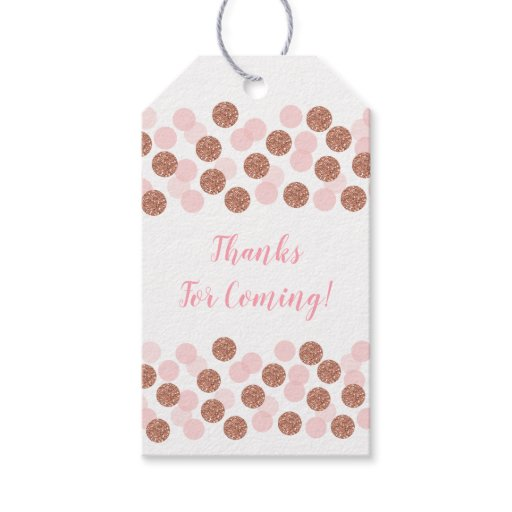 Rose Gold Bridal Shower Gift Tags
