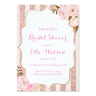 rose gold bridal shower invitation - Rose Gold Wedding Invitations