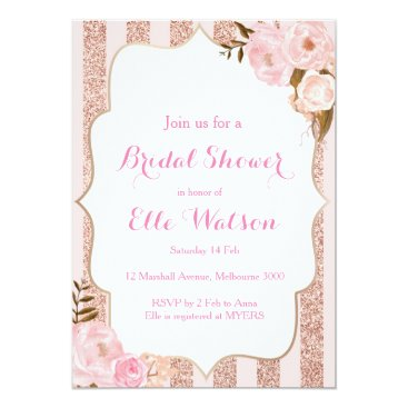 Toddler & Baby themed Rose Gold Bridal Shower Invitation