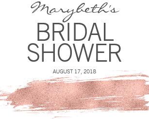rose gold brushstroke bridal shower wine charm