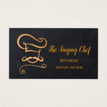 Professional Business Rose Gold Chalkboard Restaurant Business Card