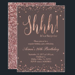 """Rose Gold Confetti Birthday Party Invitation<br><div class=""""desc"""">Rose Gold Confetti Birthday Party Invitation,  perfect for surprise birthday party. Very glamorous,  elegant,  and modern with beautiful glitter.</div>"""